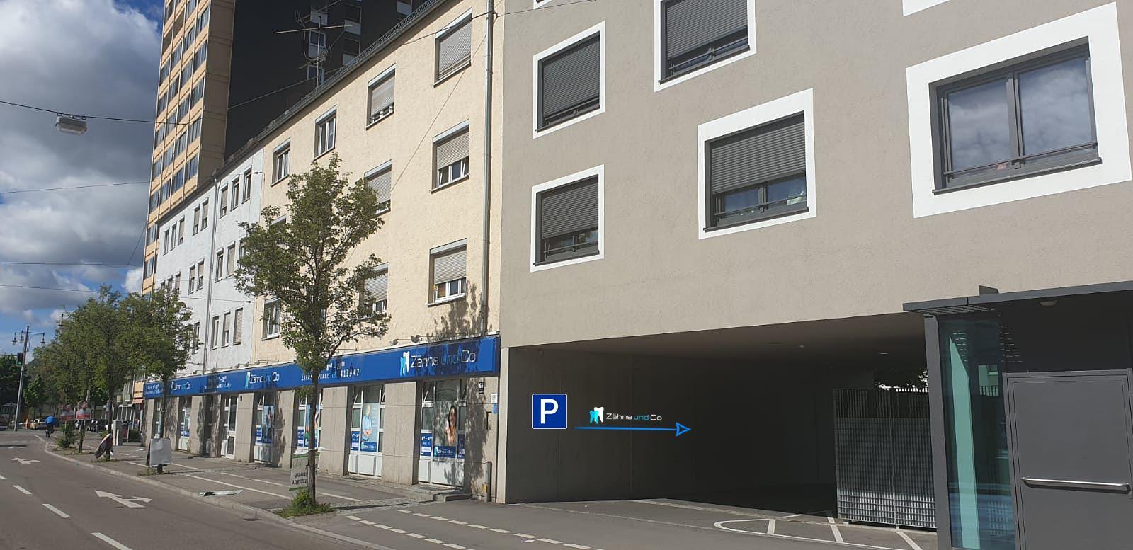 Zähne und Co | Parkplätze im Hof | Zahnarzt Augsburg